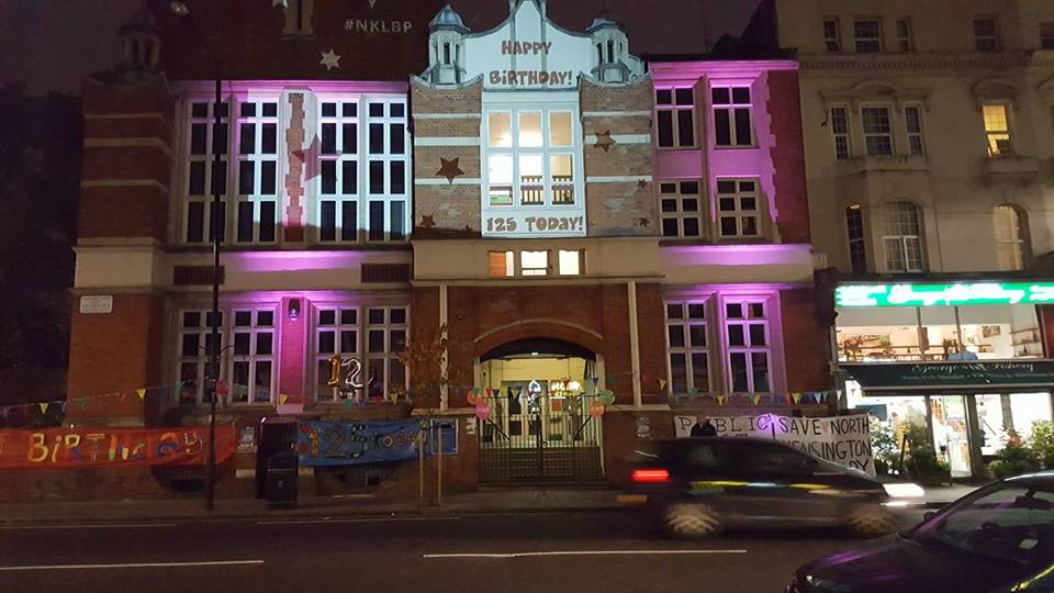 North Kensington Library birthday projection